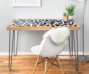 black and white, interior design room, and print b&w pattern image