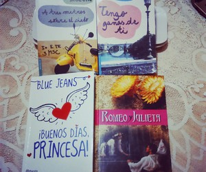 blue jeans, books, and libros image