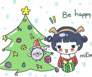 christmas, doodles, and gifs image