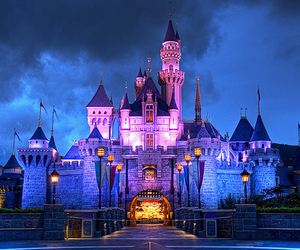castle, princess, and magical image