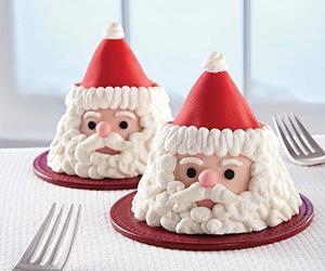 christmas, cupcakes, and dessert image