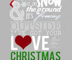 christmas, love, and snow image