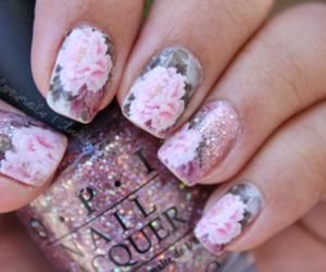 flower, rose, and glitter image