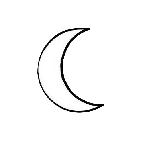 Crescent Moon Outline Overlay Uploaded By Luna Star Sun — moon outline is in stock, starting from 2 usd. crescent moon outline overlay uploaded