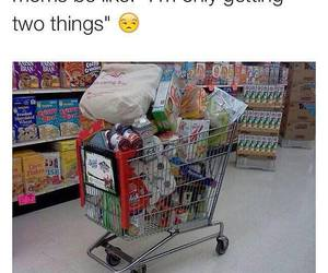 funny, mom, and shopping image