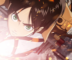 eren jaeger and attack on titan image