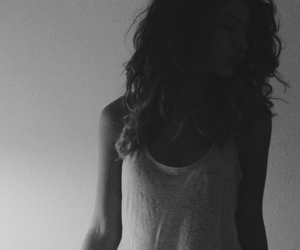 black and white, bw, and curls image