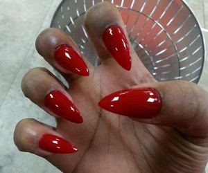 fierce, red, and nail art image