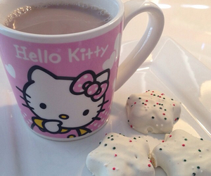 coffee, Cookies, and hello kitty image