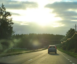 car, road, and on the road image