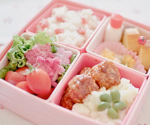 food, bento, and pink image