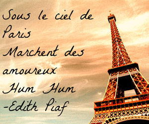 edith piaf, eiffel tower, and france image