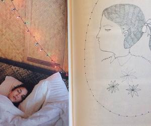 bed, door, and sleep image