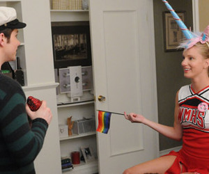 glee, unicorn, and brittany image