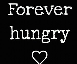 black and white, funny, and hungry image