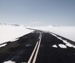 winter, road, and snow image