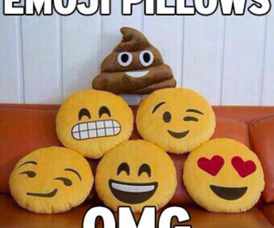 emoji, OMG, and pillows image