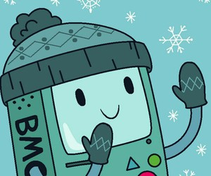 adventure time, bmo, and christmas image
