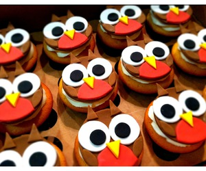 cupcakes, food, and owl image