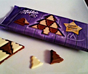 chocolate, milka, and christmas image