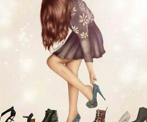 drawing, shoes, and girl image