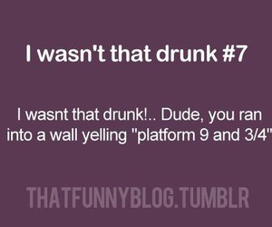 funny, harry potter, and drunk image