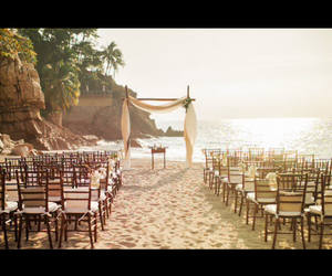 beach, beautiful, and wedding beach image