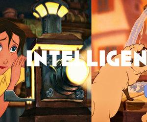 belle, disney, and intelligence image