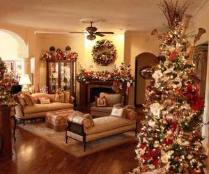 christmas, decoration, and house image