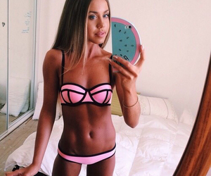 bikini, goals, and black image