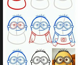 creative, draw, and minion image