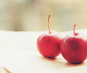 food, apple, and cherry image