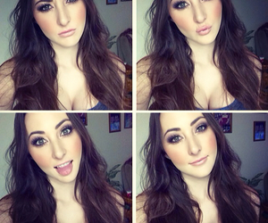 cleavage, faces, and make up image