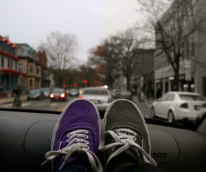 vans, shoes, and car image