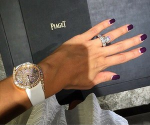 luxury, nails, and diamond image