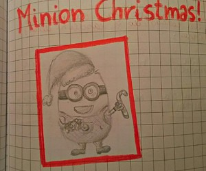 christmas, claus, and minion image