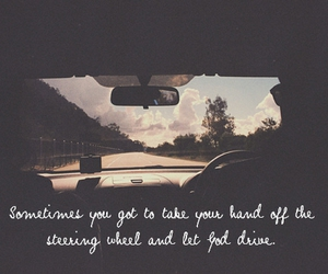 car, let go, and steering wheel image