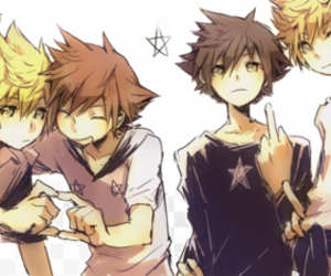 kingdom hearts, sora, and ventus image