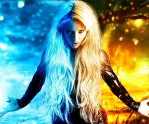 fantasy, fire, and ice image