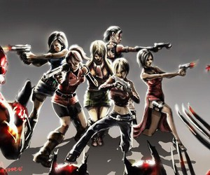 girls and resident evil image