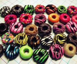 colors, donuts, and love image