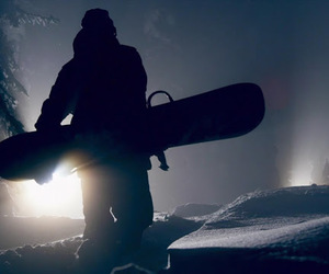 snow, snowboard, and snowboarder image