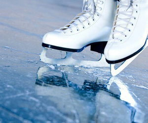 ice, winter, and ice skating image