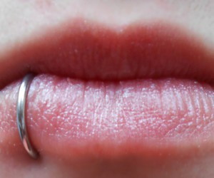 lips, mouth, and piercing image