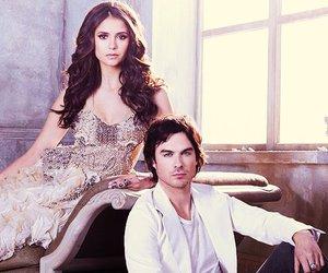 the vampire diaries, ian somerhalder, and Nina Dobrev image