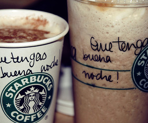 coffee, message, and starbucks image