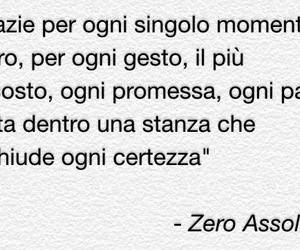 song, thanks, and zero assoluto image