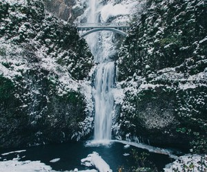 waterfall and winter image
