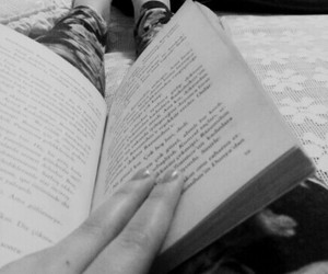 black and white, vintage, and books image