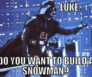 darth vader, star wars, and frozen image